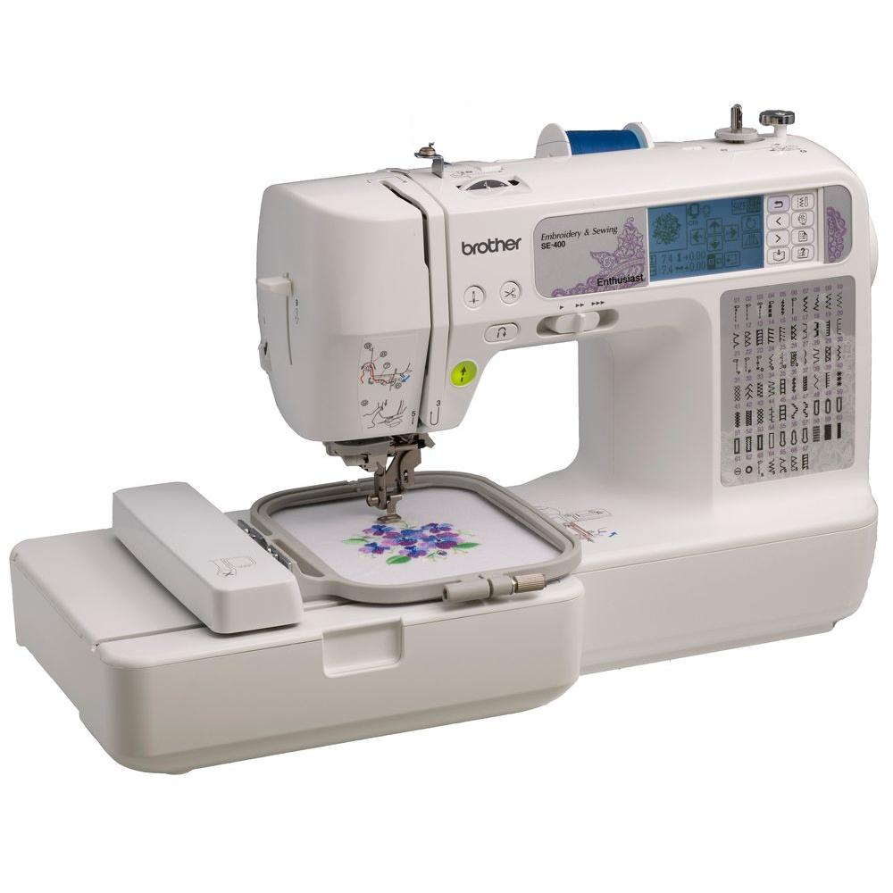 Brother Sewing And Embroidery Machine-SE400 - The Home Depot