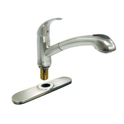 Dominion Single-Handle Pull-Out Sprayer Kitchen Faucet in Brushed Nickel