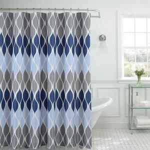 Creative Home Ideas Clarisse Faux Linen 70 inch x 72 inch Blue Textured Shower Curtain... by Creative Home Ideas