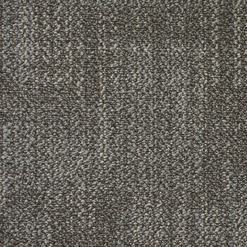 Carnegie Commercial Rock Gray Loop 19.7 in. x 19.7 in. Carpet