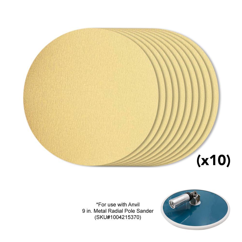 9 in. 120-Grit Sanding Disk (10-Pack)