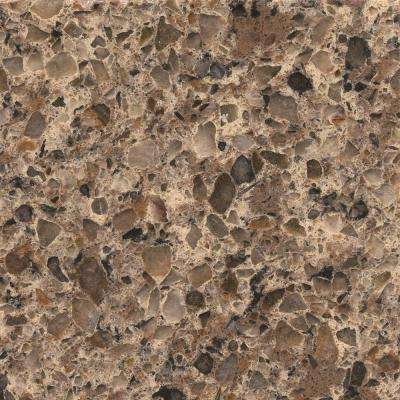 2 in. x 4 in. Quartz Countertop Sample in Sienna Ridge