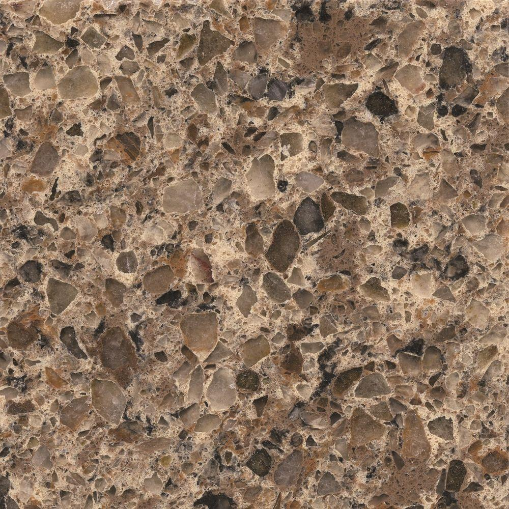 Silestone 2 in  x 4 in  Quartz Countertop Sample in Sienna Ridge