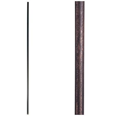 Designer Round 44 in. x 0.625 in. Oil Rubbed Bronze Plain Bar Hollow Wrought Iron Baluster