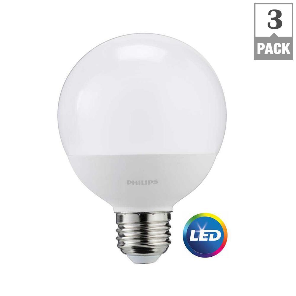 Philips 60-Watt Equivalent G25 LED Light Bulb Daylight Frosted Globe ... for Philips Led Lights Price  193tgx