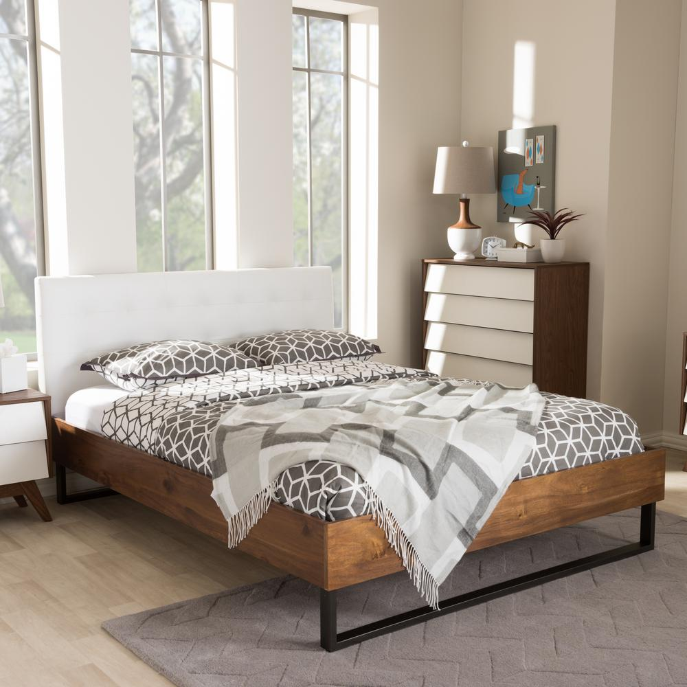 South Shore Step One Queen Size Platform Bed In Pure White
