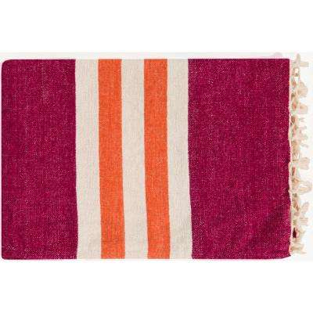 Mack Tangerine Cotton Throw