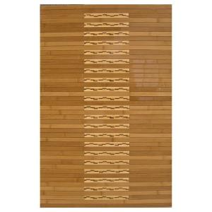 Light Brown 20 in. x 32 in. Bamboo Kitchen and Bath Mat