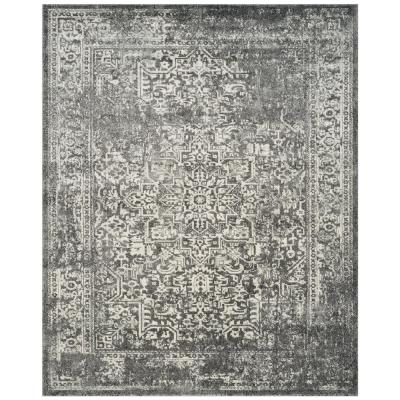 Evoke Grey/Ivory 9 ft. x 12 ft. Area Rug