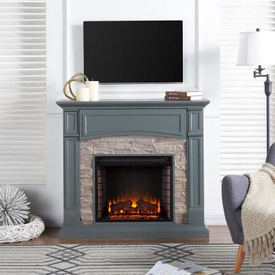 Conway 45.75 in. W Electric Media Fireplace in Gray