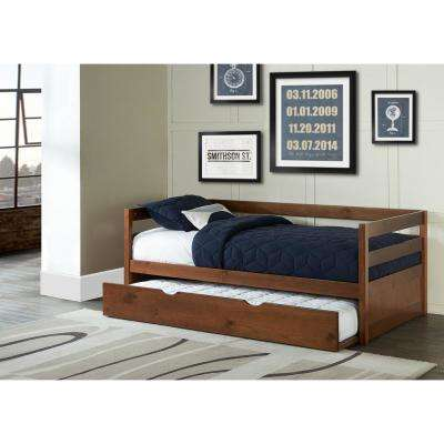 Caspian Walnut Twin Daybed with Trundle