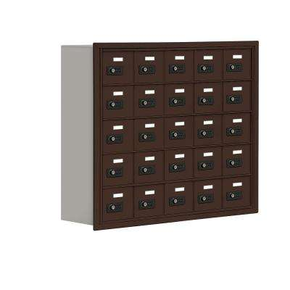 19000 Series 37 in. W x 31 in. H x 8.75 in. D 25 A Doors R-Mount Resettable Locks Cell Phone Locker in Bronze