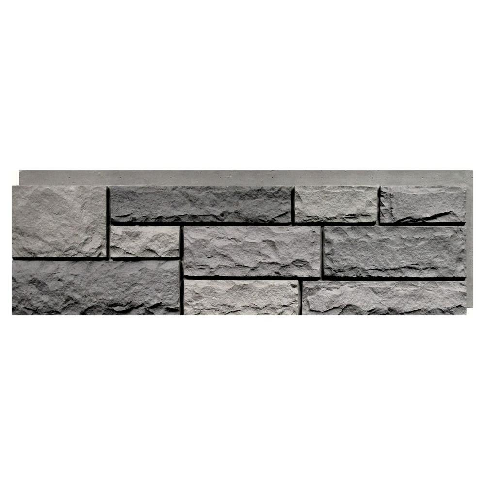 Nextstone random rock tri gray 15 5 in x 48 in faux Faux interior stone wall panels home depot