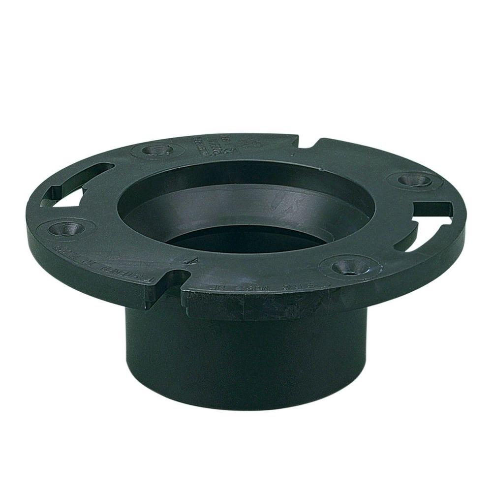4 in. x 3 in. ABS Hub Closet Flange