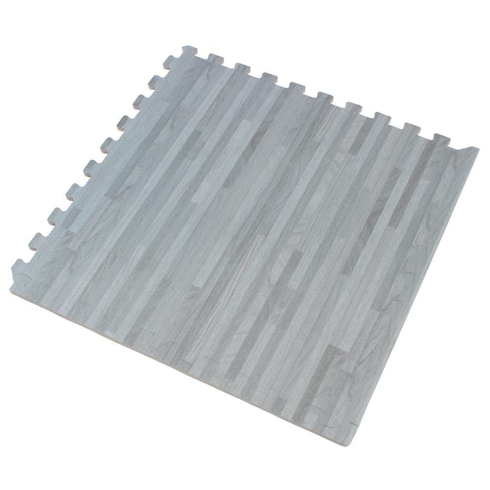 Slate Printed Wood Grain 24 in. x 24 in. x 3/8