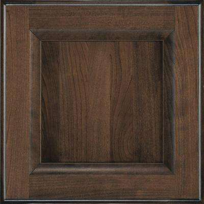 14.5x14.5 in. Cabinet Door Sample in Huchenson Mink Espresso