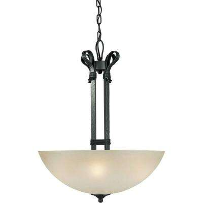 Burton 4-Light Natural Iron Incandescent Pendant