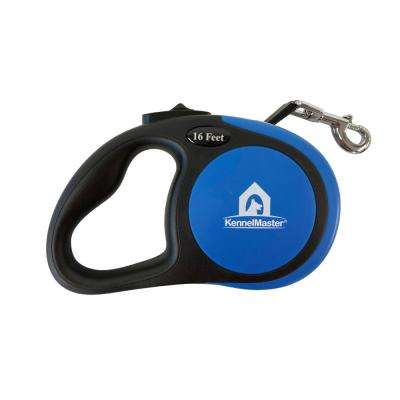 Small 16 ft. Blue Retractable Dog Leash