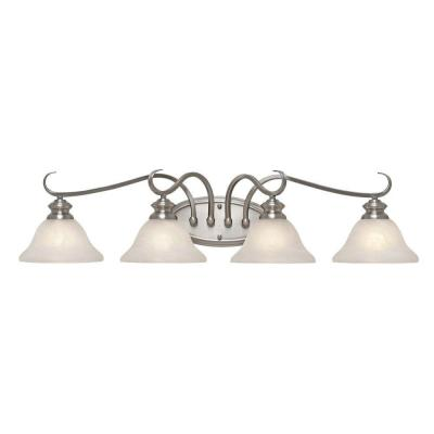Lancaster Collection 4-Light Pewter Bath Vanity Light