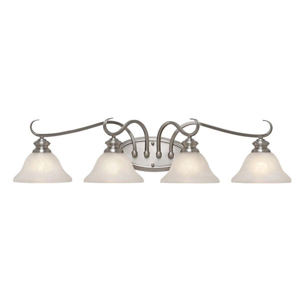 null Starke Collection 4-Light Pewter Bath Vanity Light