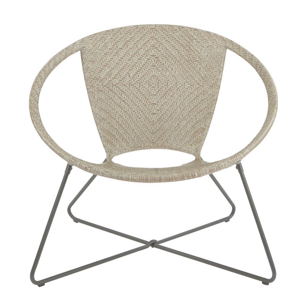 Osp Home Furnishings Navarre Grey Fade Lounge Chair With Gunmetal
