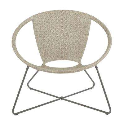 Navarre Grey Fade Lounge Chair with Gunmetal Frame