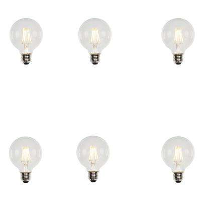60W Equivalent Soft White G25 Dimmable Filament LED Light Bulb (6-Pack)