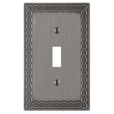 Amelia 1 Gang Toggle Metal Wall Plate - Antique Nickel