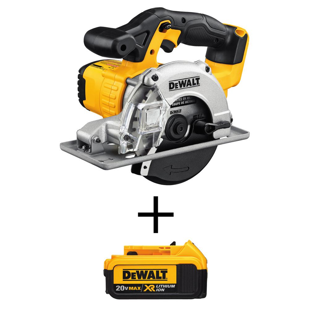 DEWALT 20-Volt MAX Li-Ion Cordless 5-1/2 in. Metal Cutting Circular Saw (Tool-Only) with Free 20-Volt MAX Li-Ion Battery 4 Ah
