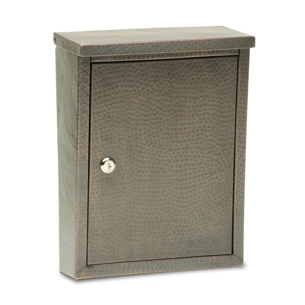 null Laguna Dark Copper Wall-Mount Mailbox with Embossing-DISCONTINUED