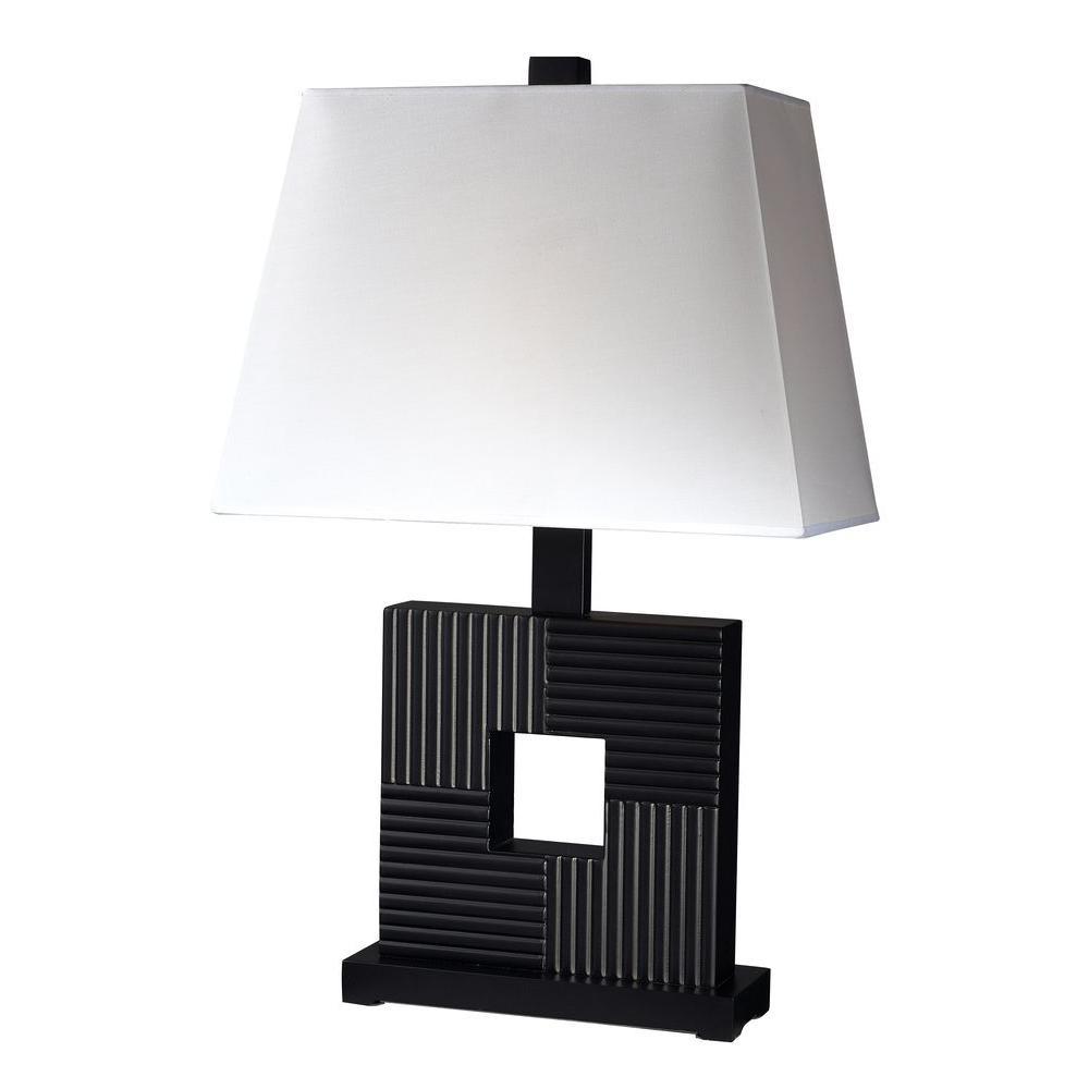 Filament Design Lawrence 25 in. Black Incandescent Table Lamp