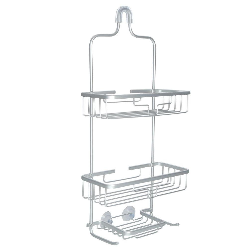 Rustproof Over-the-Shower Caddy in Satin Chrome