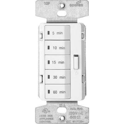 1,800-Watt 15 Amp 125-Volt 5-Button Minute Timer - White