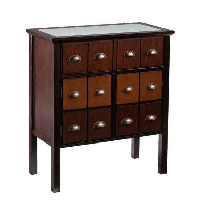 Portland Espresso, Multi-Tonal Wood, Antique Bronze Pulls Cabinet