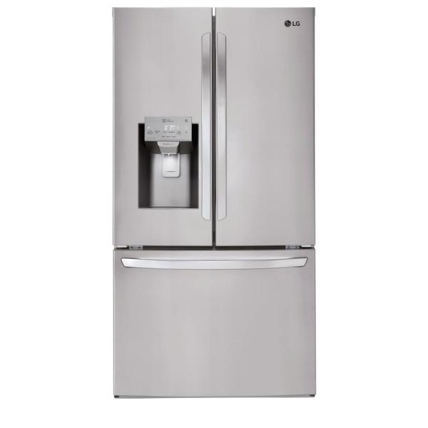 LG Electronics 27.9 cu. ft. French Door Smart Refrigerator with Wi-Fi Enabled in Stainless Steel