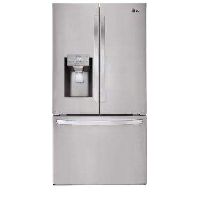 27.9 cu. ft. Built-in French Door Smart Refrigerator with WiFi Enabled in Stainless Steel