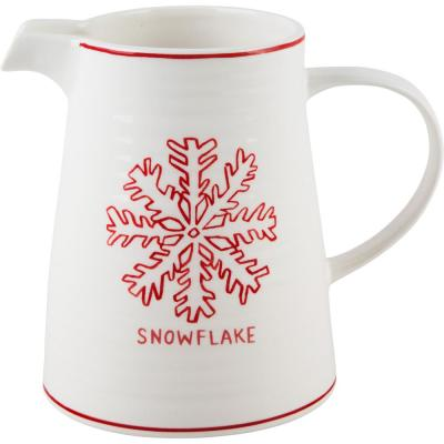 7 in. H Snowflake Pitcher
