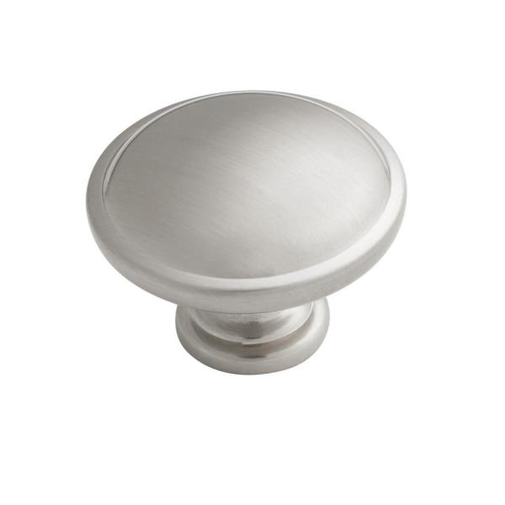 1.26 in. Satin Nickel Round Mushroom Cabinet Knob (50-Pack)
