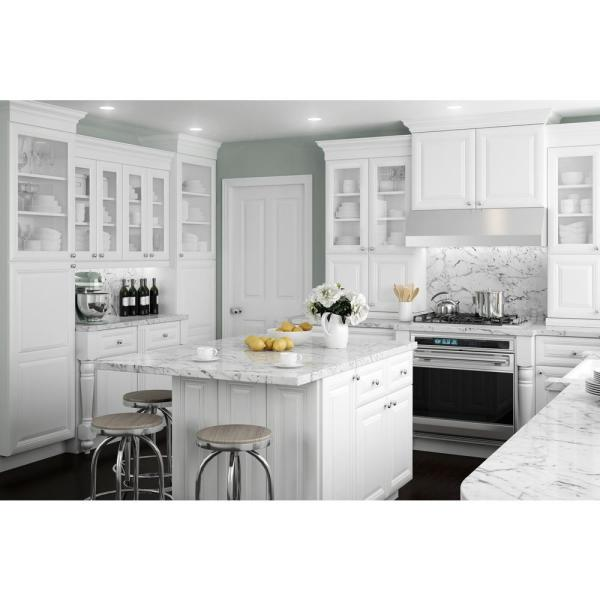 Reviews For Home Decorators Collection Brookfield Assembled 27x34 5x24 In Plywood Mitered Sink Base Kitchen Cabinet Soft Close Doors In Painted Pacific White Sb27 Bpw The Home Depot