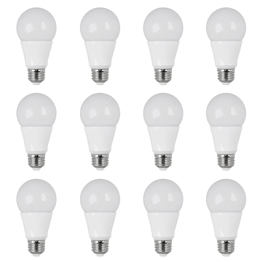 40W Equivalent Daylight (5000K) A19 Dimmable LED Light Bulb (Case of