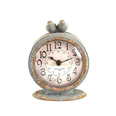 Two Birds Round Table Clock