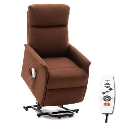 Abeale Brown Reclining Heated Reclining Zero Gravity Full Body Massage Chair with Ottoman