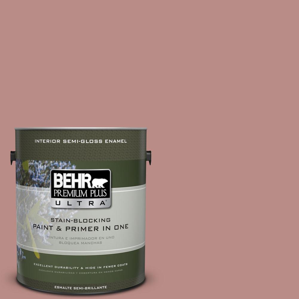 BEHR Premium Plus Ultra 1-gal. #170F-5 Brick Dust Semi-Gloss Enamel Interior Paint