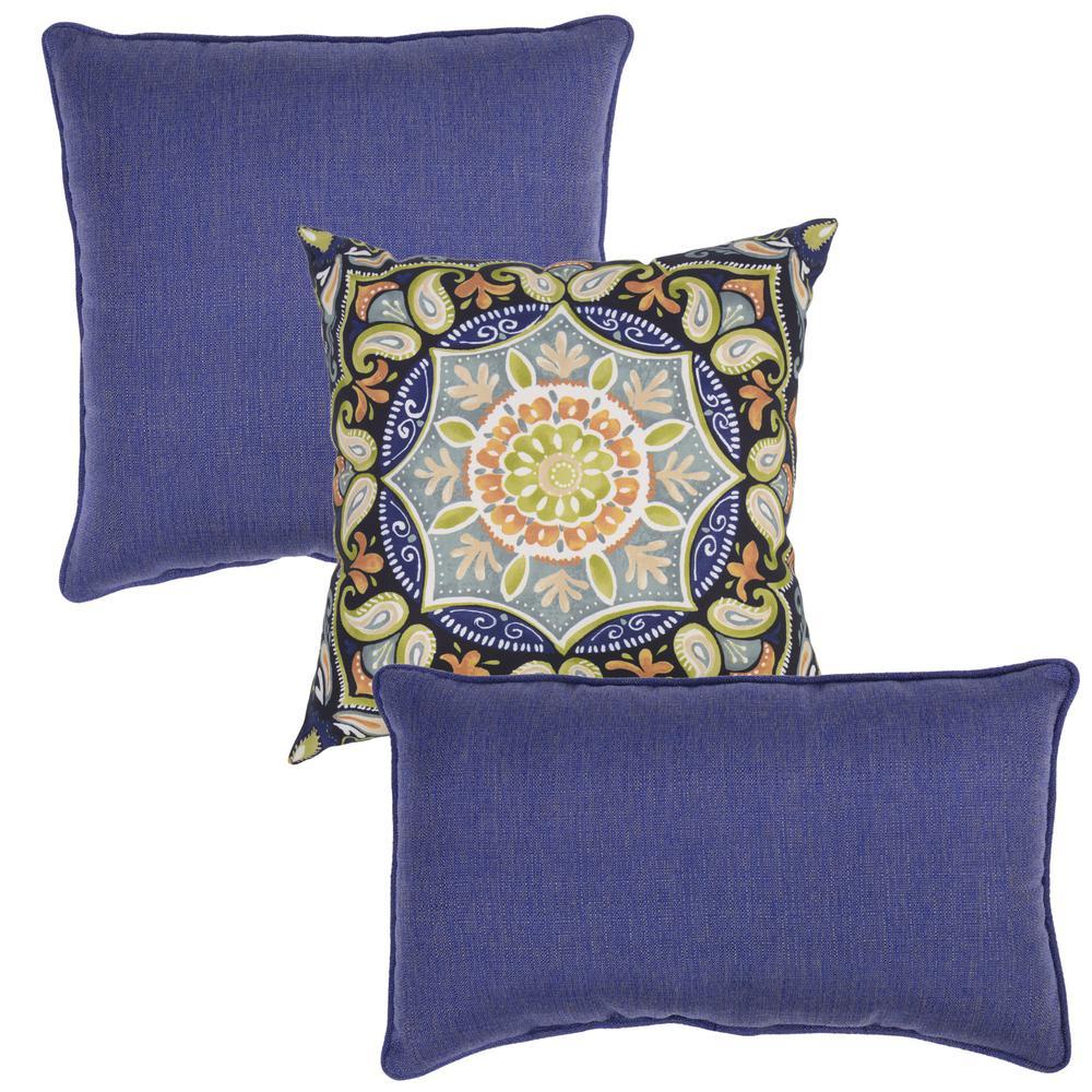 Sky Toss Pillow and Lumbar Set (Set of 3)
