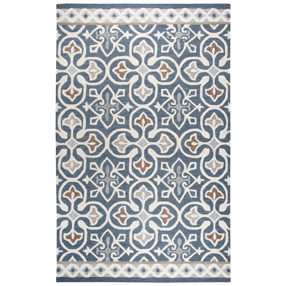 c6265618a82c Rizzy Home Opulent Blue Multicolor 8 ft. x 10 ft. Rectangle Area Rug ...