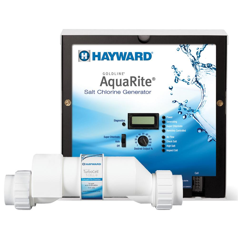 Hayward AquaRite 25,000 gal. In-Ground Salt Water Chlorin...