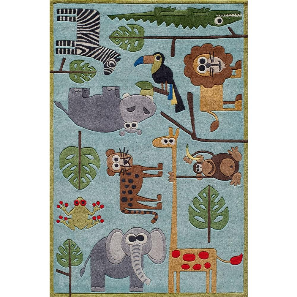 Caprice Animals Blue 8 ft. x 10 ft. Indoor Area Rug