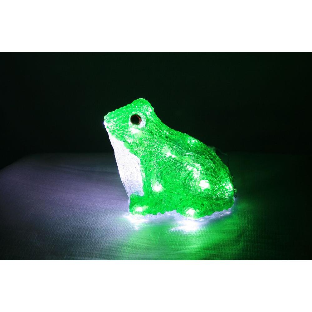 XEPA 7.2 in. Decorative Green LED Frog Light