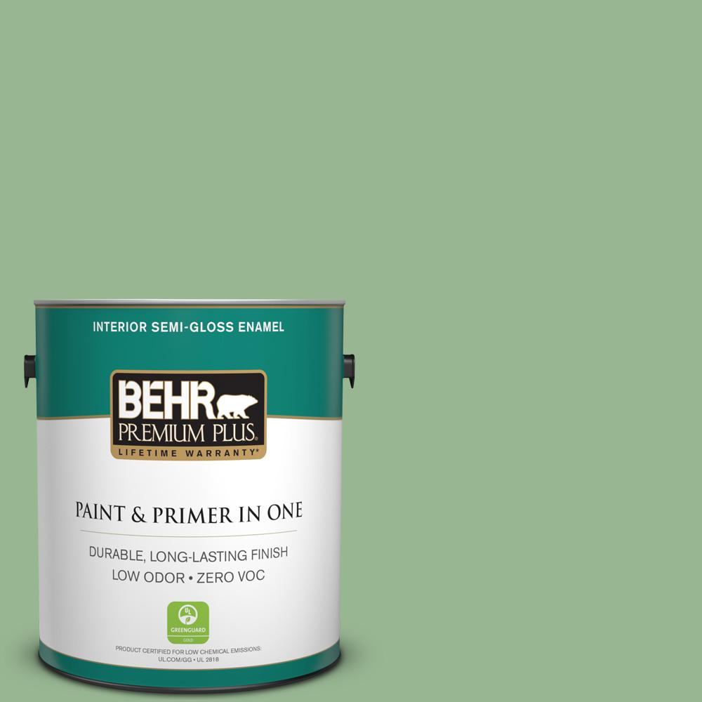 BEHR Premium Plus 1-gal. #M400-4 Brookview Semi-Gloss Enamel Interior Paint