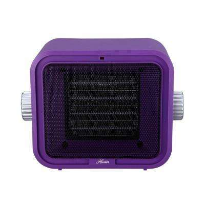 1500-Watt Ceramic Retro Electric Portable Heater - Purple